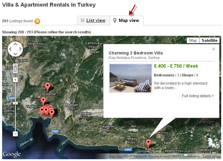 Google Map of Turkey